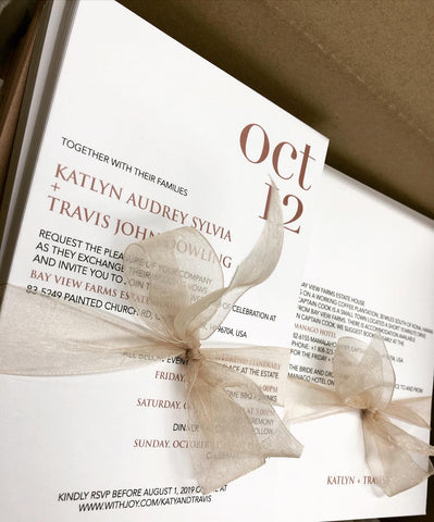 Katlyn + Travis - wedding invitation