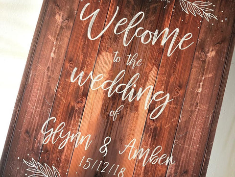 Glynn & Ambers Wedding Signs