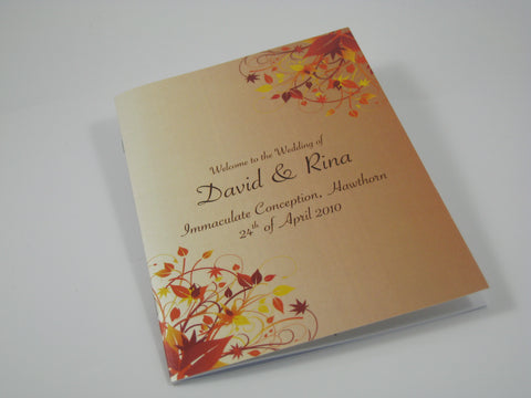Autumn Bliss - Hymn Booklet