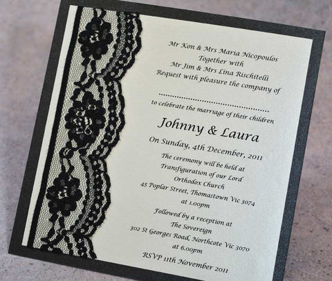 Black Swan - Wedding Invitation