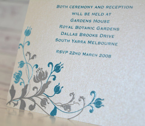 Blue Jelly - Wedding Invite