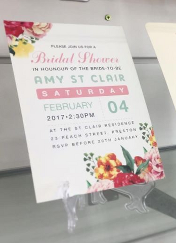 1C.  Amy's bridal Shower Invitation