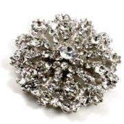 Brooch Diamante Crown 5cm Diameter