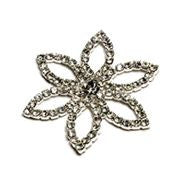 Brooch Diamante Flower