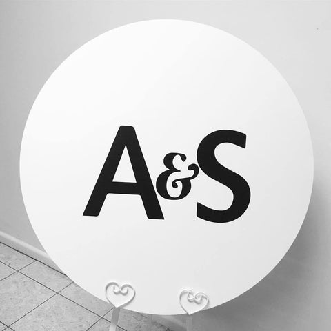 1J.  A & S - round sign