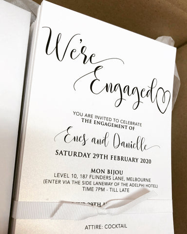 Enes & Danielle- Engagement Invite