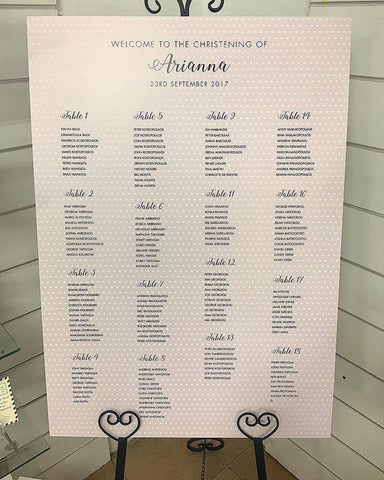 Arianna Guest Seating Chart