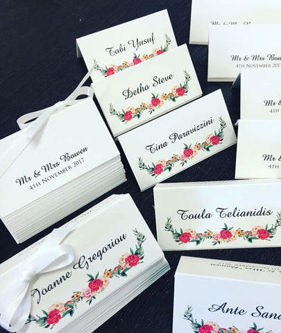 1b.  Floral Design Placecards
