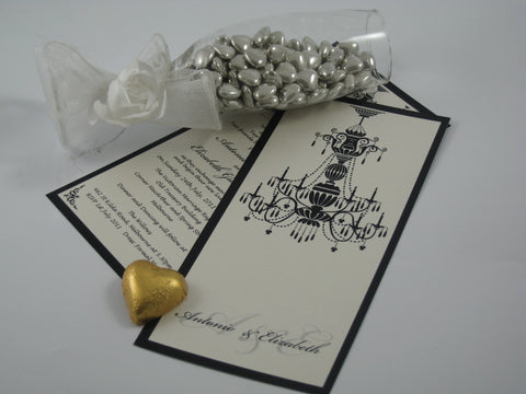 Chandelier Reproduction - Wedding Invitation