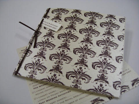 Chocolate Damask Invitation
