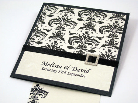 Formal Damask - Wedding Invitation