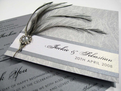 Crafty Feather Invitation