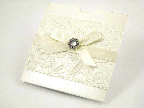 Embossed Flower Square Pocket