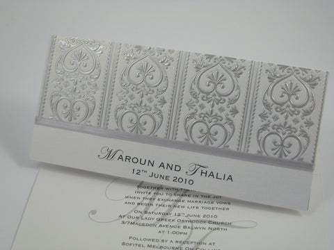 Crafty Embossed Foil Invite