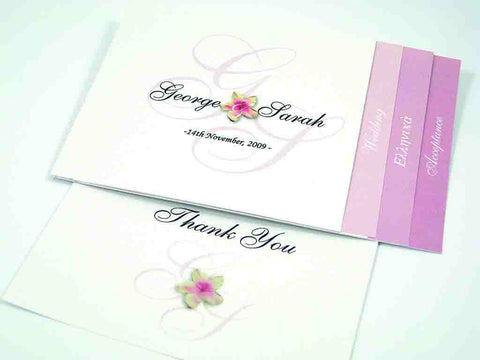Crafty Tab With Flower Print - Wedding Invitation