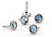 Crystal Studs Blue 8mm