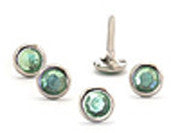 Crystal Studs Green 8mm