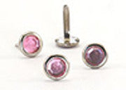Crystal Studs Pink 8mm