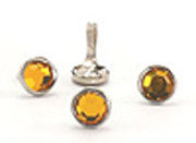 Crystal Studs Yellow 8mm
