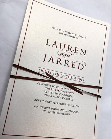 1J.  Lauren & Jarred - wedding invitation