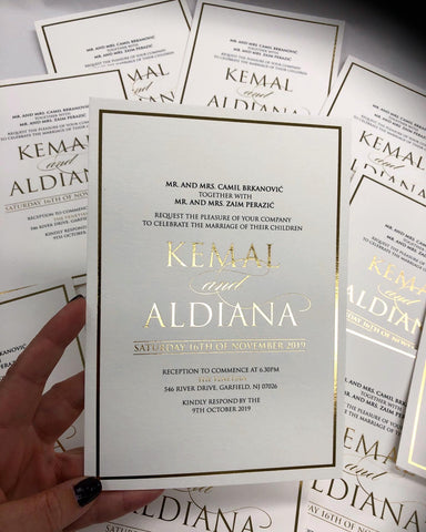 Kemal and Aldiana - Foil Invitation