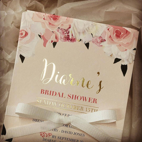 1B.  Diarne's Bridal Shower Invitation