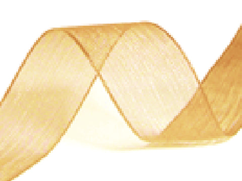 Organza Antique Gold Ribbon