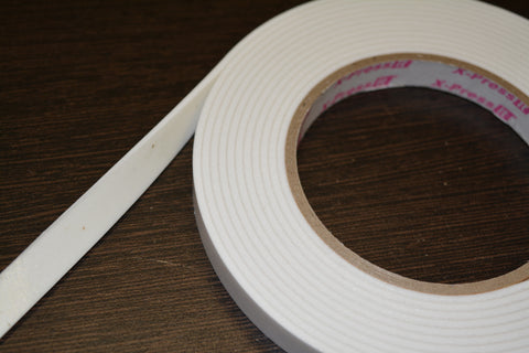 Foam Mounting Tape 12mm width, 2mm thickness, 4m length
