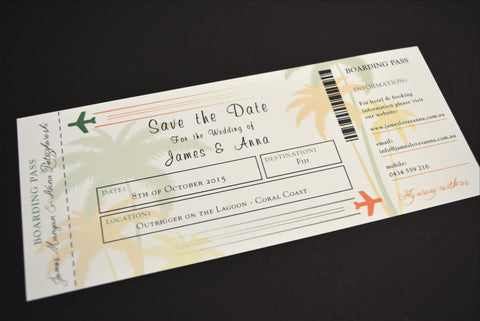 Ticket to Save the Date