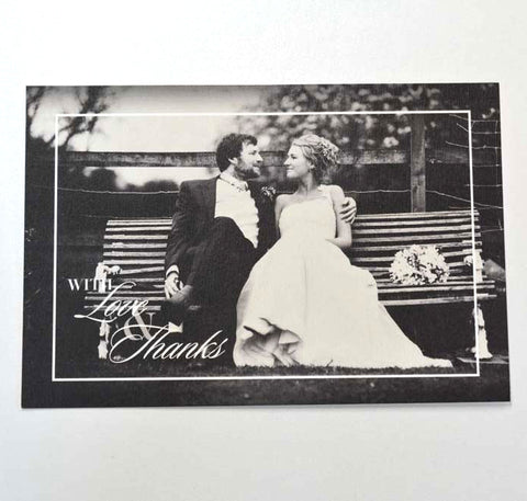 1E.  Black & White Classic Thank You Card
