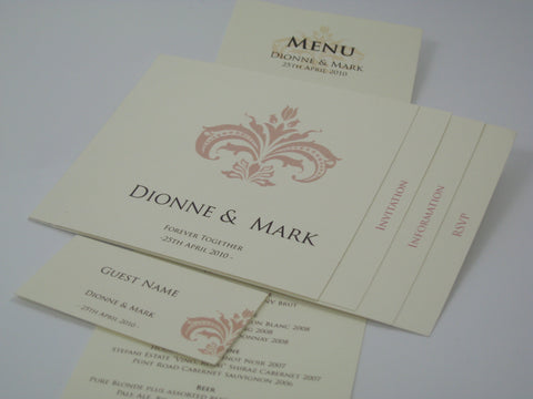 Damask Tab Invitation
