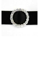 Diamante Buckle Round Large 2.1cm
