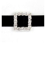 Diamante Buckle Square Small 1.6cm X 1.6cm