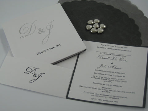 1I - Elegant Foil with Pocket