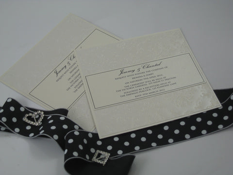 Embossed Pearl Invitation