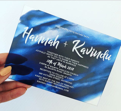 Hannah - Acrylic Invitation