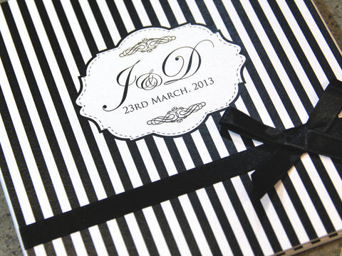 Simply Black & White Hardcover Invite