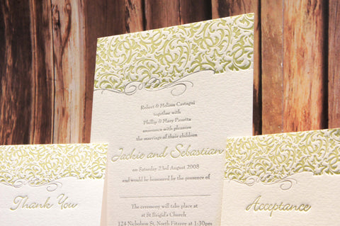 Filigree Ivory - Wedding Invitation
