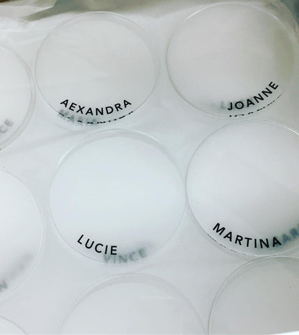 Frosted Acrylic Coasters