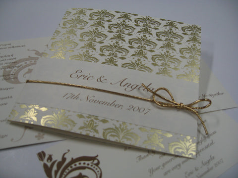 Gold Romanza Foil Invitation