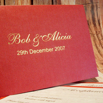 Golden Glamour - Wedding Invite
