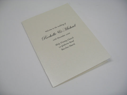 Holy Wedding - Hymn Booklet