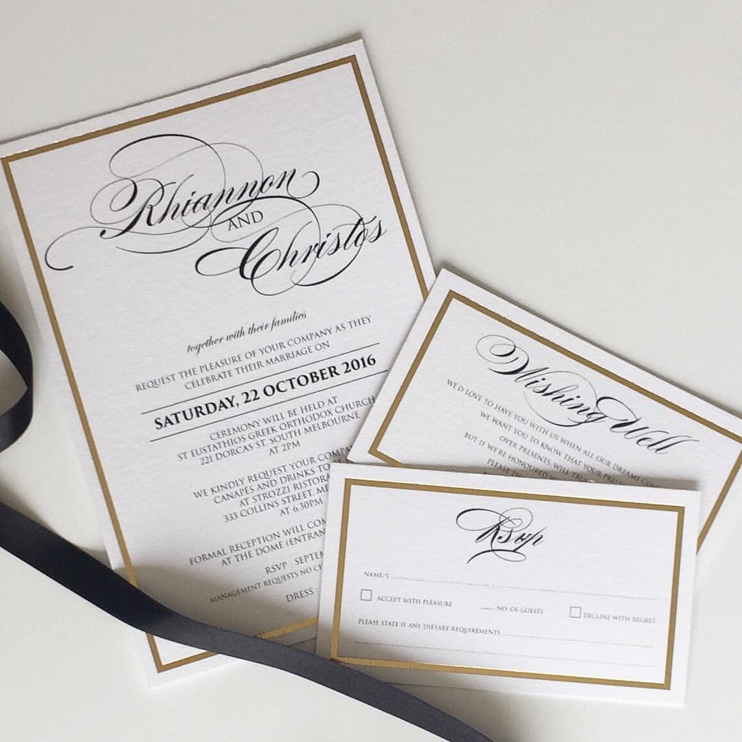 Wedding invitations invites design cards online australia melbourne rhiannon christos solutioingenieria Image collections