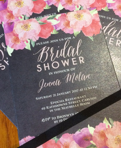 1E.  Jenna Bridal Shower Invitation