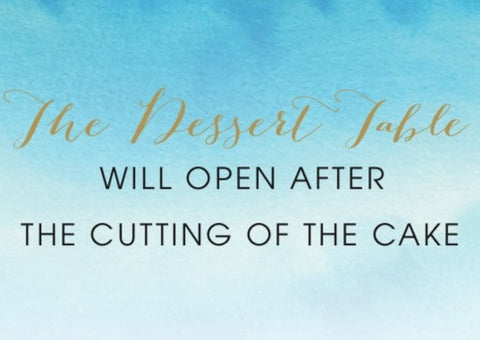Desert Table Sign