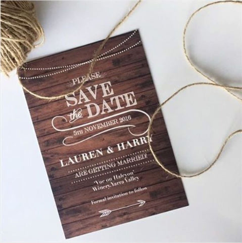 1A - Rustic Save the Date