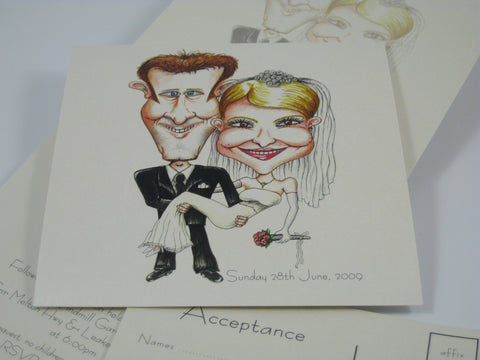 Caricature Married Couple