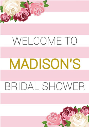 Bridal Shower Welcome Board