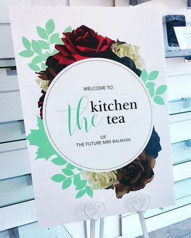 1C.  Welcome Board - The Kitchen Tea