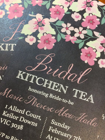 1K.  Marie's Kitchen Tea Invitation